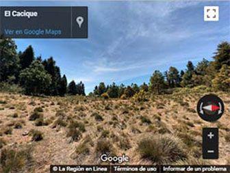 Vista 360° de la cima del Cerro Cacique en Zitácuaro, Michoacán.