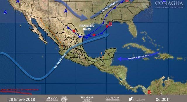 Pronostican lluvias intensas y fuertes para inicio de semana