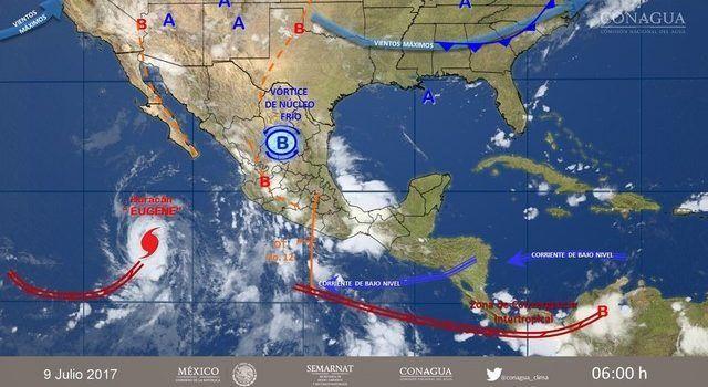 Depresión tropical 6-E provocará lluvias muy fuertes en Michoacán: SMN
