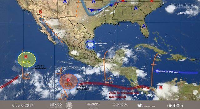 Tormentas fuertes y granizadas prevé el SMN este jueves para Michoacán