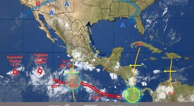 Hoy se prevén lluvias en #Michoacán #Oaxaca y #Chiapas