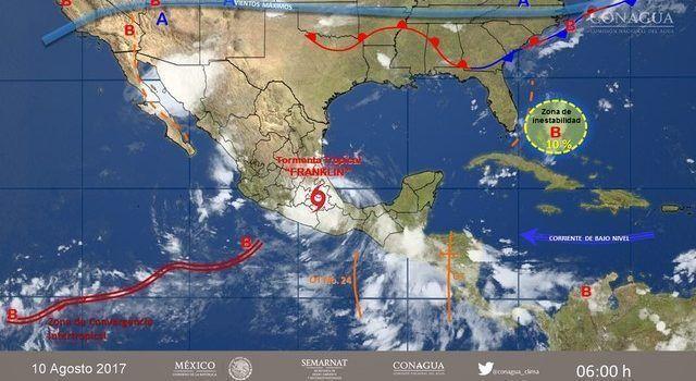 Franklin favorecerá tormentas fuertes en el Valle de México