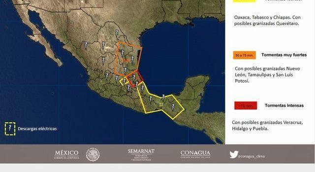 Cielo nublado y chubascos prevalecerán en Valle de México este domingo