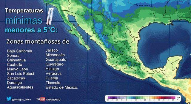 Prevé SMN una disminución de lluvias en el país (08:06 h)