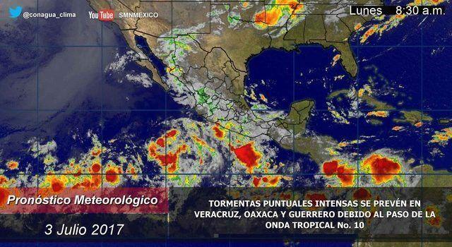 Pronostican lluvias y altas temperaturas para la zona