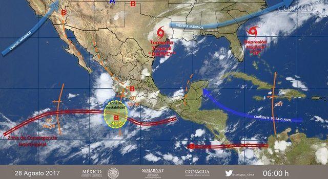 Huracán Harvey provoca tormentas en noreste de México — Migrantes