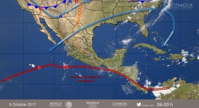 Se pronostican tormentas intensas en Veracruz y Oaxaca