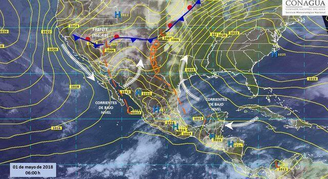 Prevé SMN viento fuerte y tormentas en el norte del país