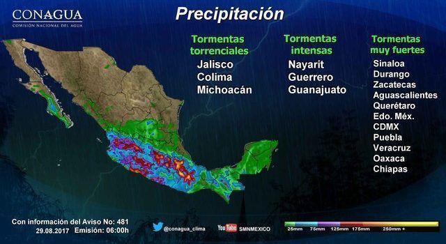 Surge depresión tropical 14-E en Pacífico