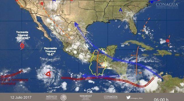 Se prevén tormentas fuertes para el miércoles en el centro del país