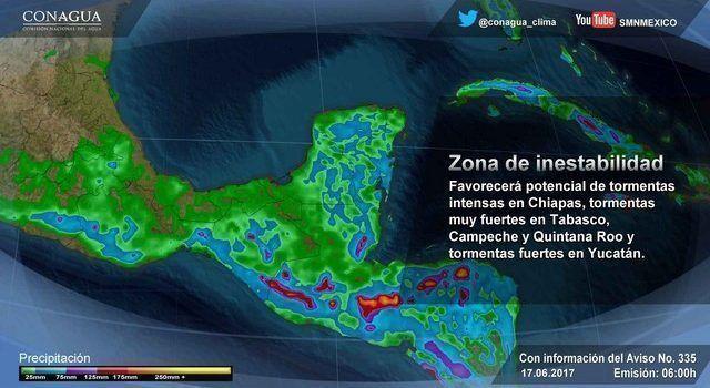 Pronostican ciclón tropical en el Golfo de México y Yucatán
