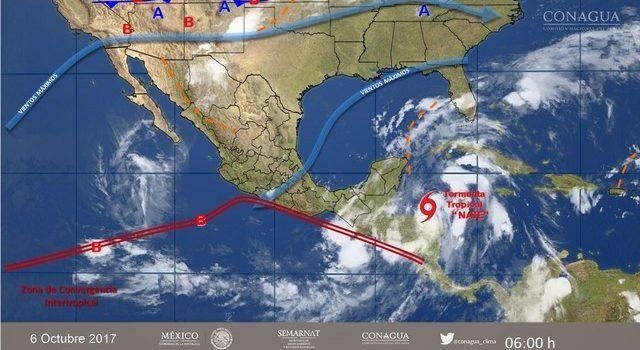 Nate continúa debilitándose y pasa a depresión tropical