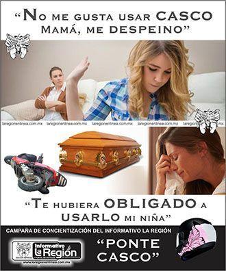 Ponte casco campaña periódico La Región